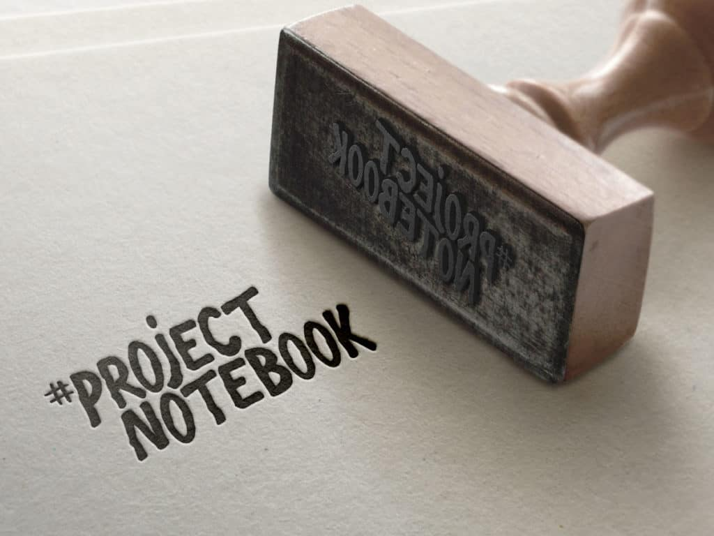 project notebook stamp