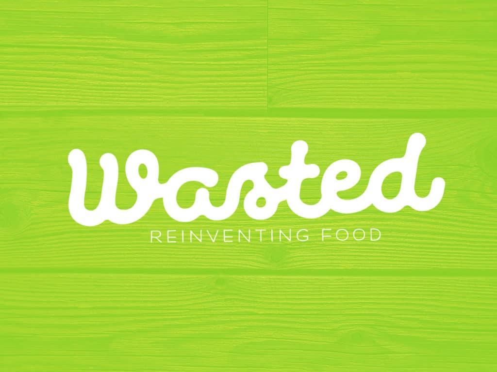 wasted logo design