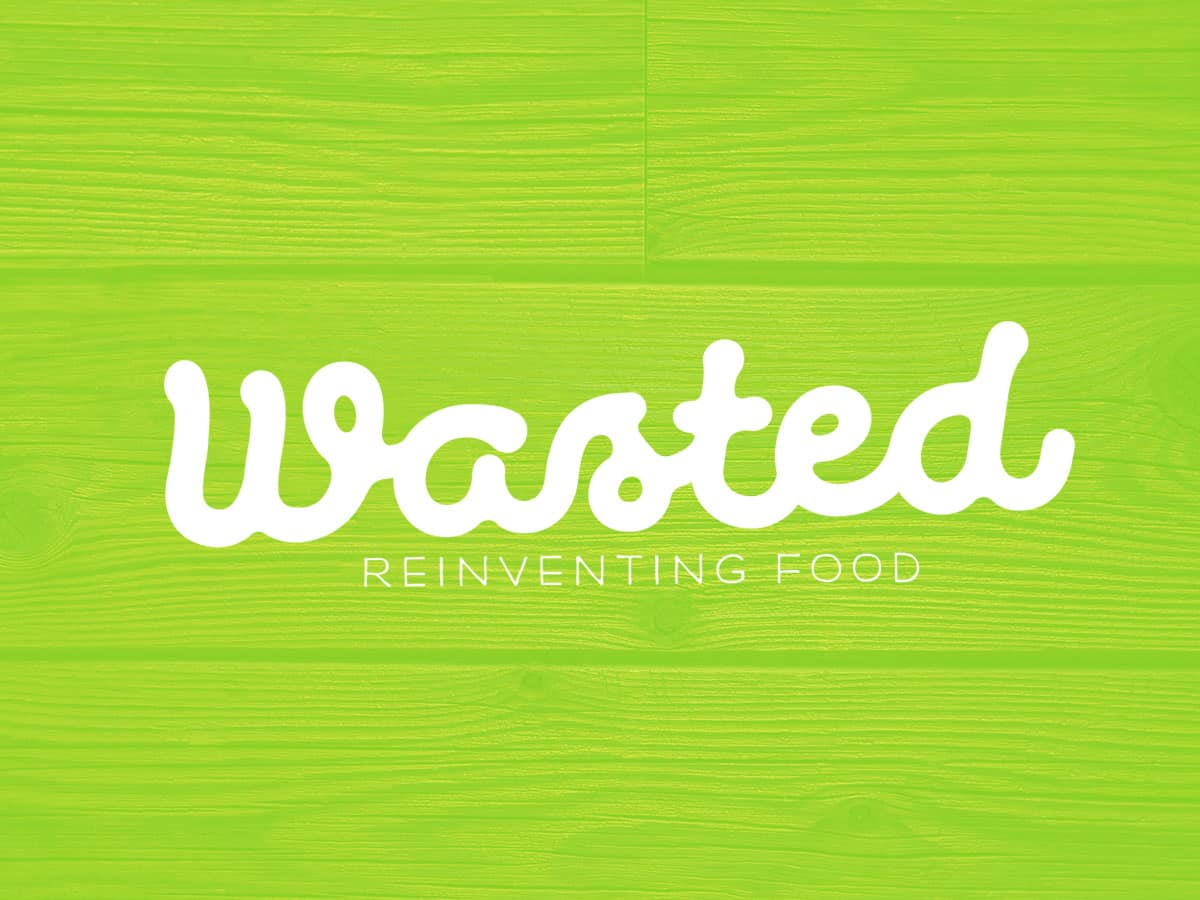 wasted logo design